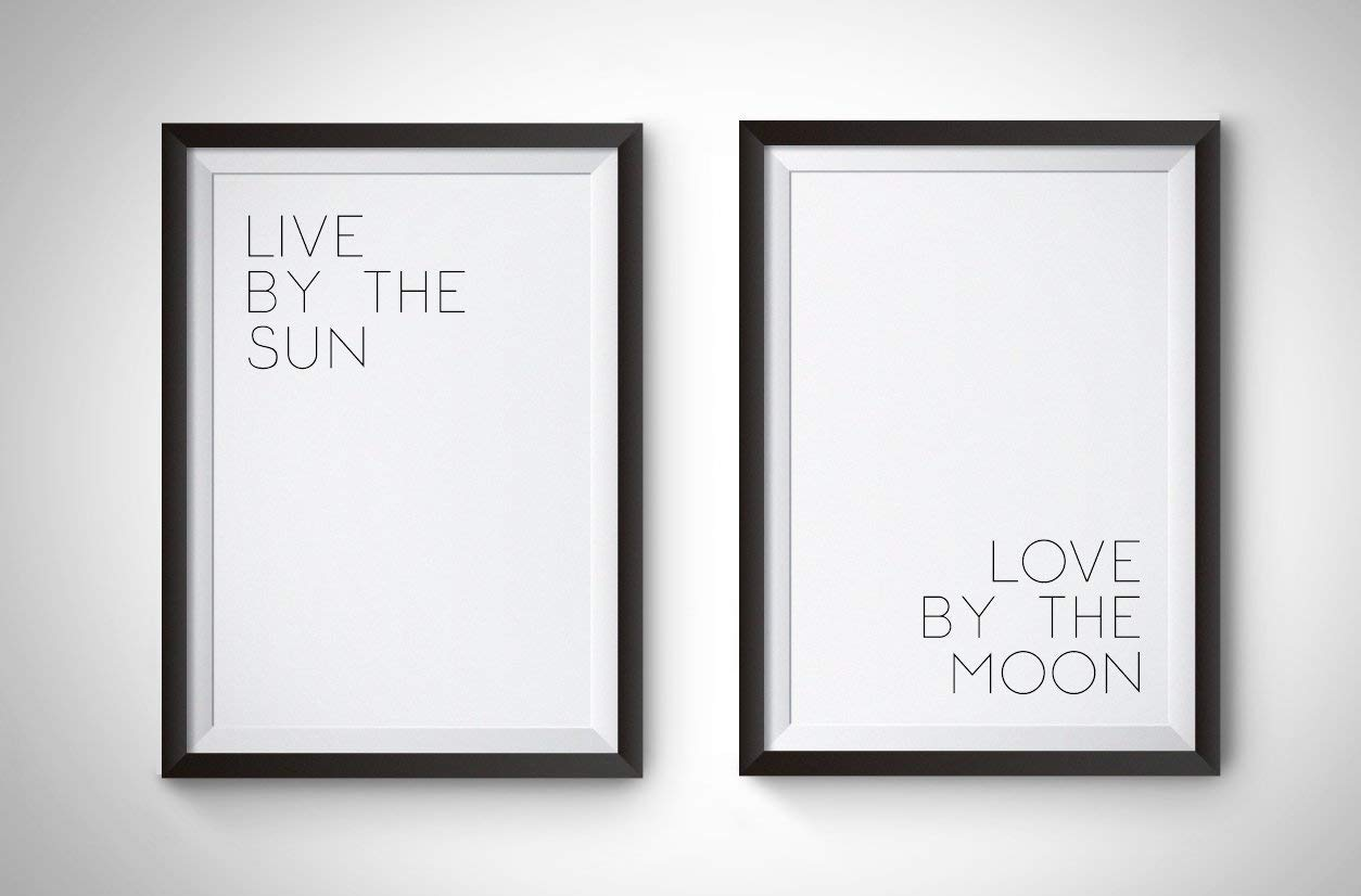 Live by the Sun Love Moon Print Poster Beauty products Manufacturer direct delivery 11 x Wall Decor