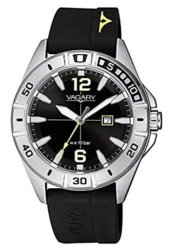 Orologio Unisex Vagary by Citizen Acqua39 Black Silicone ref. IU1-816-50