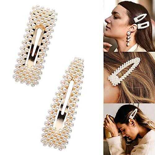 Perle Haarspangen, Dekorative Künstliche Perle Haarnadeln Haarklemmen Haarclips Friseur Clips Combi-Clip Haarspangen Zubehör für Mädchen Frauen Kinder Hochzeit Haarschmuck