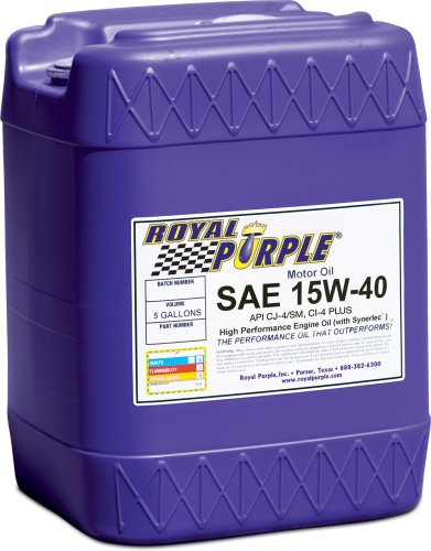 Royal Purple 05154 API-Licensed SAE 15W-40 High...