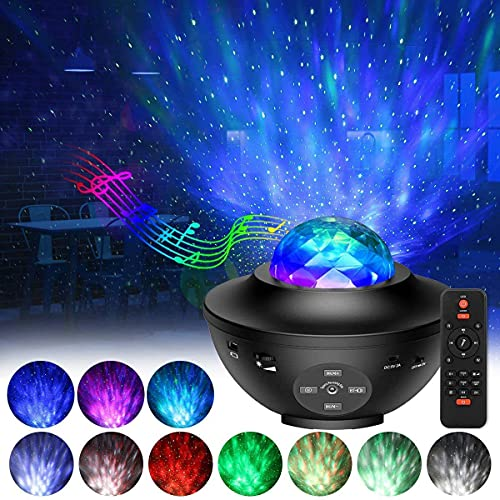 Star Projector, Galaxy Pojector with Remote Control, 3 in 1 Light Projector w/LED Nebula Cloud with Bluetooth Music Speaker, 10-Color Music Player with Bluetooth/Timer for Kids Decor/Birthday/Party