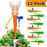 Vintoney Automatisch Bewässerung Set, Automatische Bewässerungsspitzen Bewässerungssystem Gartenpflanzen Blumen Zimmerpflanzen Pflanzen Topfpflanzen Urlaub für die meisten Flaschen (12 Stück)