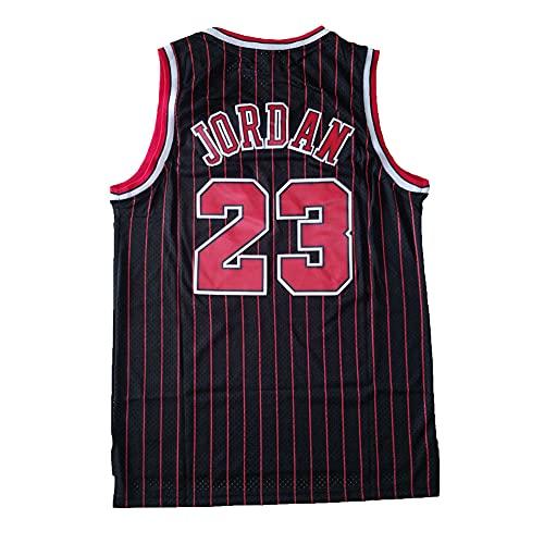 BRHERIOL Maglie da Basket da Uomo 23# Jordan Jersey Swingman Stitched Shirt S-XXL (Nero, M)