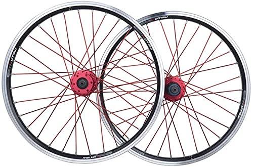 qwert Ruedas De Bicicleta Rueda Bicicleta BMX 20 Pulgadas Aleación Llanta Freno De Disco De Doble Capa V Liberación Gratuita 7 8 9 10 Velocidad 32H,Plata