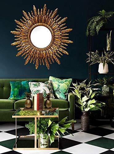 HFFFHA Gafas de Sol Doradas Antiguas Hollywood Regency Mirror Starburst Mirror