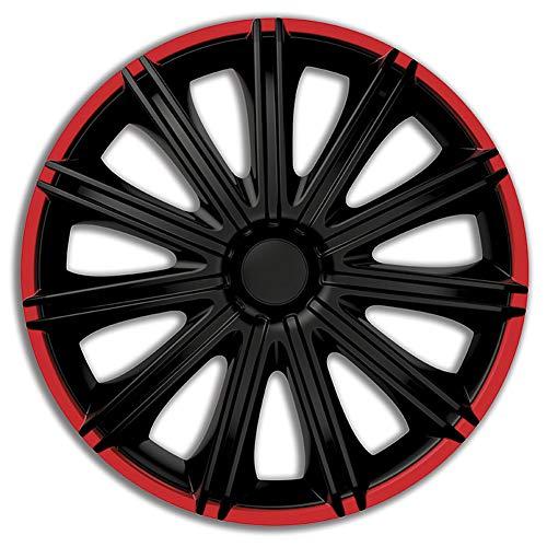 AUTOSTYLE Jeu d'enjoliveurs Nero R 14-inch noir/rouge