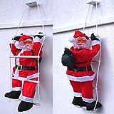 Cudek Products XL Deluxe WEIHNACHTSMANN AUF Leiter 150cm~WETTERFEST~WEIHNACHTSDEKO~Santa~TOP DEKO~