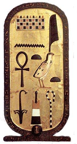 Akachafactory Selbstklebend Wandtattoo Antikes Ägypten Ägyptische Kartusche hierolglyphe Tutanchamun