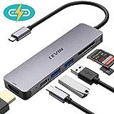 LEVIN USB C Hub 7-IN-1 Typ C Hub mit 100 W PD-Stromversorgung, 4K UHD USB C zu HDMI, 2 USB...