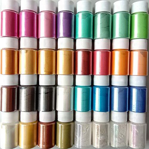 Juego de 32 pinturas de resina epoxi de colores, pintura de