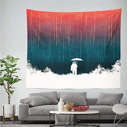 Tapiz astronauta astronauta patrón impreso tela de pared tapiz dormitorio decoración de fondo alfombra 150cmX100cm