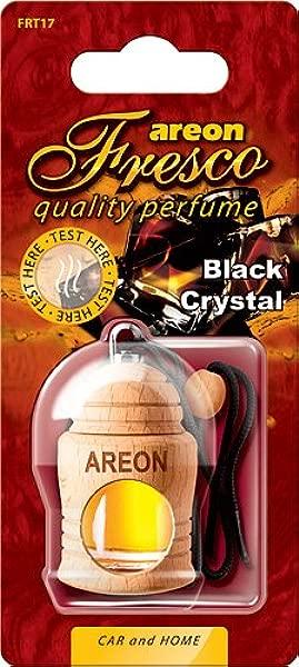 Areon 3 X Fresco 黑水晶香薰汽车家用或办公室香薰香水树空气清新剂