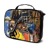 Jean Michel Basquiat - Bolsa de cosméticos de dibujos animados para viajes, bolsa de maquillaje adorable para mujeres y niñas