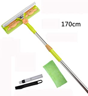 Glass Cleaner Double Sided Telescopic Rod Window Cleaner Glass Brush Scraping Highrise Cleaning Cleaning Window Tool House...