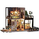 QinWenYan DIY Modelo de Casa de Muñecas Casa De Madera Romántico Casa En Miniatura Casa De Muñeca De Bricolaje Artesanal Kit Muebles (Color : Multi-Colored, Size : One Size)
