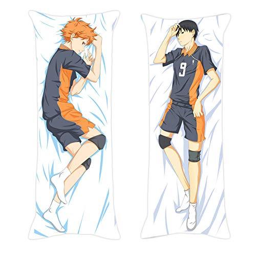 dili-bala Haikyuu !! Anime Körper Kissenbezug Pfirsich Haut doppelseitig Verschiedene Anime Charaktere Druckkissen High Volleyball Kissen (NUR Kissenbezug !!)(L-50×150cm MC)