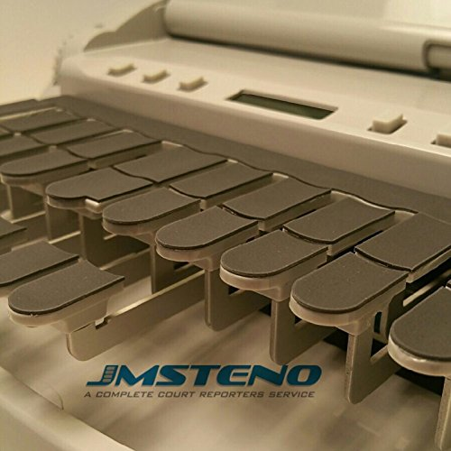 Stenowriter Thin Rubber Keytop Covers for All Stenograph, Infinity, ProCAT,Baron & Xscribe Writers for Comfort, Noise Reduction and Added Stability for Fingers by JM Steno