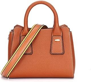 Fashion New Trend Casual Fashion Bills Shoulder Slung Small Handbag Leather Bag (Color : Brown)