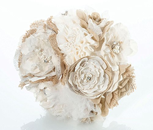 Lillian Rose Rustic Country Wedding Burlap Flower Bouquet