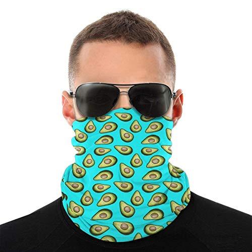 Bandeau, écharpe Bandana sans couture élastique d'avocat de fruits tropicaux frais, série de chapeaux de sport de résistance aux UV randonnée équitation motocyclisme