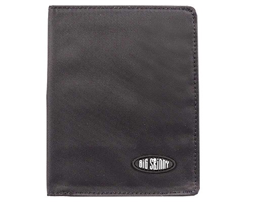 Big Skinny Men's Hipster Bi-Fold Slim Wallet, Holds Up to 40 Cards, Black