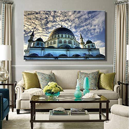 Puzzle 1000 piezas Imagen de paisaje de mezquita de pintura de arte de foto de estilo islámico moderno puzzle 1000 piezas adultos Rompecabezas de juguete de descompresión inte50x75cm(20x30inch)