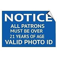 アルミニウム金属ノベルティ危険サイン、有効な写真IDを持つ21歳以上のすべての常連客に注意してください面白いリビングルームバークラブガーデンコーヒーショップ壁アート装飾