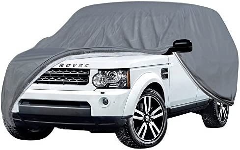 OxGord Executive Storm-Proof Auto Cover - 7 Layers -Developed for Any All Conditions - Ready-Fit Semi Glove Fit fro SUV, Van, and Truck - Fits up to 206 Inches