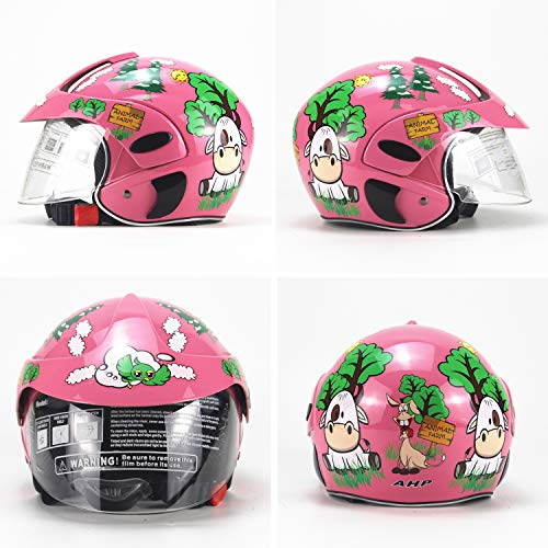 HXYT Children's Cartoon Roller Scooter Helmet, DOT Certification / 3-8 Years Old Male and Female Baby Bicycle Four Seasons Helmet (Size: 53 cm)