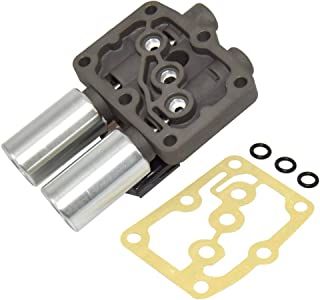 Transmission Dual Linear Solenoid with 1PCS Gasket and 3PCS O-Rings 28250-P6H-024 for Honda Accord Odyssey Pilot Prelude Acura CL TL MDX