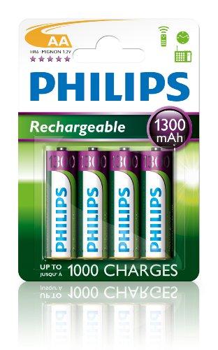 PHILIPS Multi Life NiMH Akku AA Mignon 1300 mAh 4er Pack