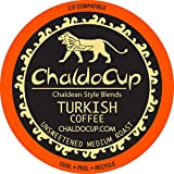 ChaldoCup Turkish Coffee (Medium Dark Roast Coffee), 36ct. Middle Eastern Style Blends Recyclable...
