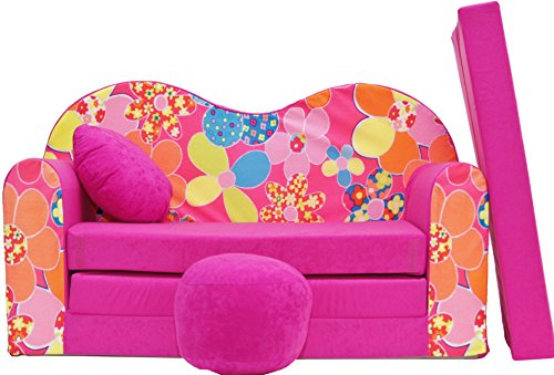 Sofá Foam Juguete Cama para niños + Puf/Reposapies y Almohada (H12B)