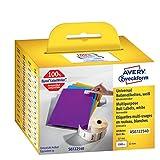 Avery Italia AS0722540 Etichette adesive bianche in rotolo, adesivo rimovibile, 32 x 57 mm, 1000 etichette per confezione, 1 rotolo per confezione, bianco