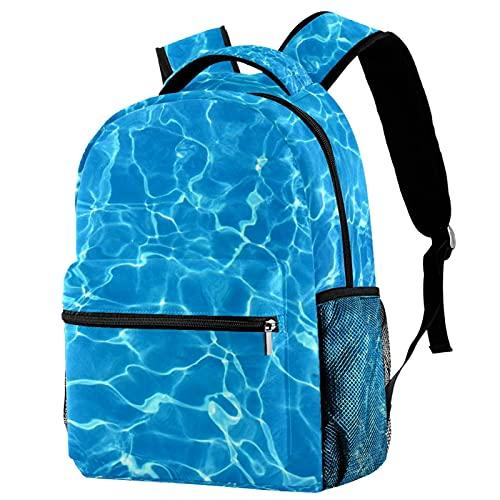 RuppertTextile Zaino per adolescenti e ragazzi Utility Daypack Walk Travel Bag Piscina con il pacchetto della bottiglia d'acqua