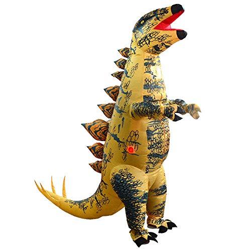 AVANI EXCHANGE Giocattoli gonfiabili per Bambole di Stegosauro Giallo Adulto Fino a 2 m con Ventola Giocattoli per la Decorazione dell'attrezzatura del Costume del Partito di Festa del Ventilatore