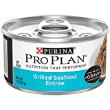 Purina Pro Plan Gravy Wet Cat Food, Grilled Seafood Entree - (24) 3 oz. Cans