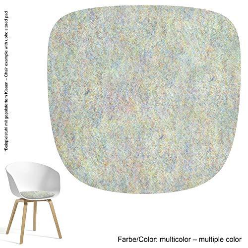 Feltd. Eco Filz Auflage 4mm Simple - geeignet für HAY - About a Chair - AAC 20-28 // 29 Farben inkl. Antirutschunterlage (Multicolor)