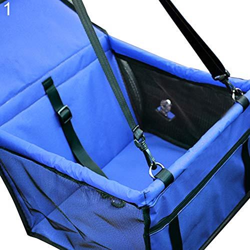 Sytaun Pet Carrier Bag, Hundemattenkorb Atmungsaktive wasserdichte Cage Booster Autositz Pet Carrier Protector Blau Normal#None