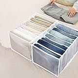 ZLSL 2 Pcs Wardrobe Clothes Organizer, Non-Woven Clothes Storage Bag, Stackable Wardrobe Storage Box, for Keep The Wardrobe Tidy Can Washed Home Organizer (White)
