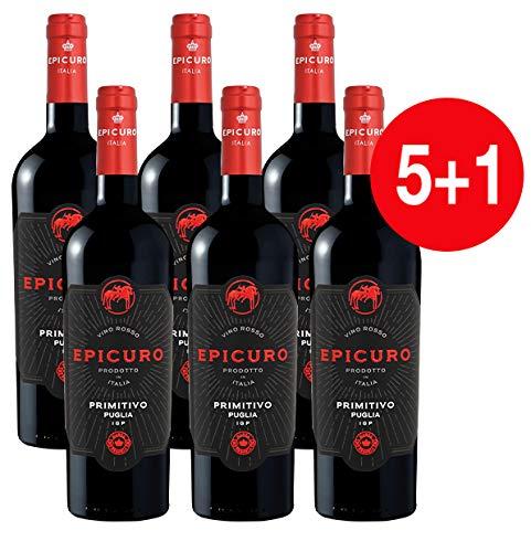 EPICURO Primitivo Puglia IGP (5+1 * 0.75 l)