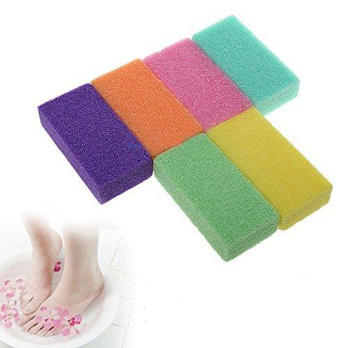 Milopon 3x Bimsstein Fußpflege Hornhaut Entferner Harte Haut Pediküre Werkzeug Zufällige Farbe