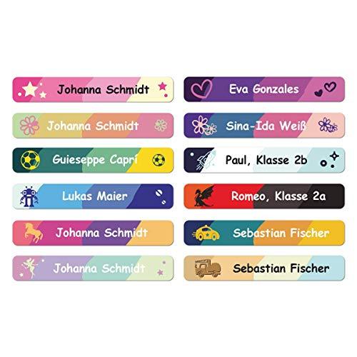 foliado® Namensaufkleber Stifteaufkleber Kinder Etikett 45x7mm Sticker Namensetikett Schule Kita für Kennzeichnung von Stiften personalisierte Klebeetiketten wasserfest APD-017 (150)