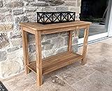 GRASEKAMP Qualität seit 1972 Teak Tisch 100x45x75cm Kaffeetisch Gartenmöbel Couchtisch Gartentisch
