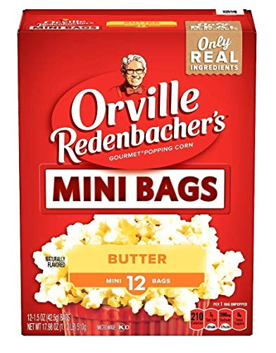 Orville Redenbacher's Microwave Popcorn Mini Bags (1.5 oz) Butter, 12 count