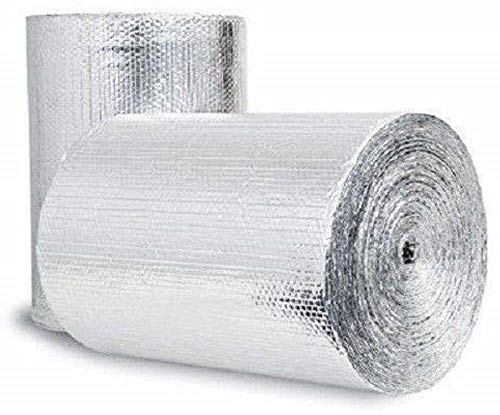 Reflective Foil Insulation Spiral Duct Pipe Wrap Double Bubble 12x25 (Seams) v