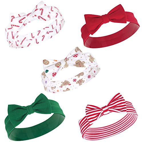 Hudson Baby Unisex Cotton and Synthetic Headbands, Sugar Spice, 0-24 Months