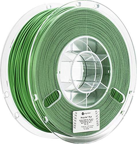 Polymaker PolyLite PLA 3D Printer Filament, 3D Printing Filament, 1.75mm pla - 1Kg Spool (2.2 lbs) Green, fit Most FDM Printer…