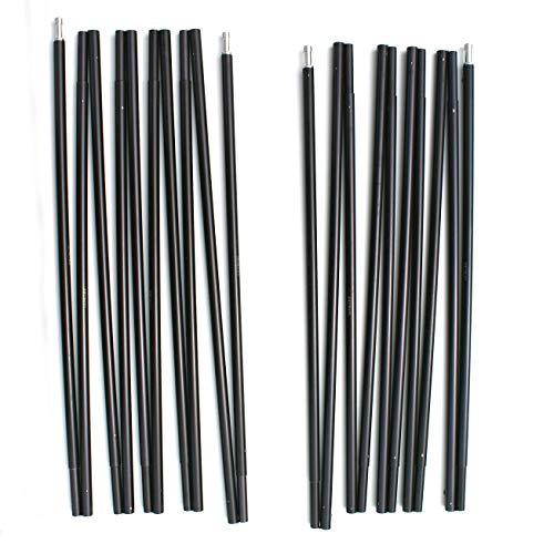 Coleman Sundome 2 Poles Fiberglass 2 Tent Replacement Poles (Black)