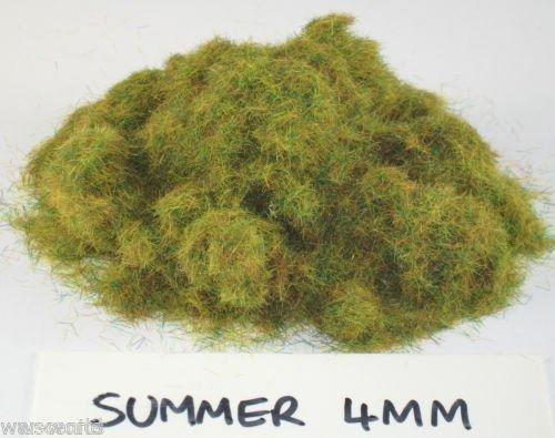 WWS Summer 4mm Mix Model Basing Static Grass 10g G,O,Ho/OO,TT,N.Z Wargames